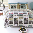 Airwaves Retro Radios #Bedding Duvet Covers & Pillowcases. Single, Double & King