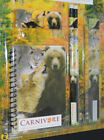 5 piece stationery set note book 2 pencils rubber Ruler Knights Animals wildlife