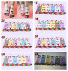 Hot 6 Pair Womens Girl Cartoon Cotton Five Toe Socks,7 Different Styles Colors