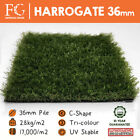 36mm HARROGATE Artificial Grass Fake Green Lawn Grass Garden Free Delivery