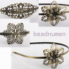 New bronze plated leaves flower Hair Accessories Hair Clasp Headwear