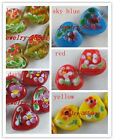 10pcs Handmade Lampwork Heart Flower Spacers 16mm P224-P228