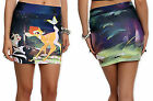 Disney Bambi Thumper Flower Butterfly Allover Contour Mini Skirt  Licensed NWT