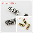 90pcs Silver,Gold Color 3Holes Bar Spacers 13x5.5mm D244 D245