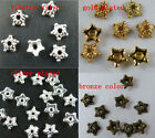 400 Silver/Gold/Bronze Color Little Flower Bead Caps 6x2mm A41-1227