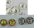 100 Silver/Gold/Dull silver 5-leaves Bead Caps 17x4mm 3colors-1 S158-S160