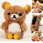 Cute 3D Teddy Bear Plush Toy Doll Cover Case Shell For Samsung Mobile Cell Phone