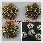 80 Tibetan Silver/Gold Tone Leaves Bead Caps 11x3mm A240-1782
