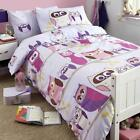 SINGLE / DOUBLE SIZE BOYS & GIRLS BEDDING SETS BLUE PINK RED WHITE ANIMAL FLORAL