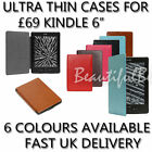 BEAUTIFUL ULTRA THIN PU LEATHER CASE COVER FOR KINDLE 4 / 5 WI-FI 6""