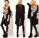 Women Skull Printed Baggy Oversized Tee T-shirt T shirt Top Blouse Mesh Back T1