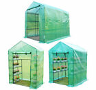 3 Sizes Walk in Garden Greenhouse with Shelves Polytunnel Steeple Grow House New