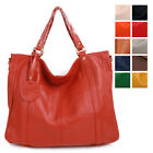 New Genuine Leather EXTRA LARGE Satchel TOTES SHOULDER Bag [WB1169]
