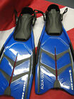 Snorkel Fins aquaglide snorkeling equipment travel adjustable watersport blue