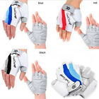 Bicycle Bike Cycle Motorcycle Gel Silicone Half Finger Fingerless Gloves S-XXL