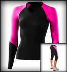 COMPRESSION TOP AND 3/4 TIGHTS LADIES RUNNING TRAINING ACTIVE SHORTS BASE LAYER