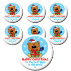 FAMILY CHRISTMAS BADGES & MAGNETS -IDEAL FOR CHRISTMAS STOCKING FILLERS & GIFTS