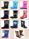 BNWT WELLINGTON BOOTS KIDS CHARACTER WELLY SNOW WELLIES SHOES SIZE Infant 4-UK 1