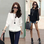 Women Ladies Batwing Dolman Long Sleeve T-Shirt Tops Loose Blouses White Black
