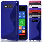 S Line Wave Soft Silicone Case Cover FOR NOKIA LUMIA 820 *FREE SCREEN PROTECTOR