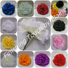 144Silk flower Artificial Carnation picks BURGUNDY or MIX  Weddings  Funerals .