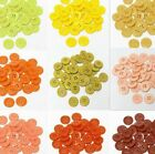 """19mm 3/4"""" SZ 30 Small Plastic Coat Buttons YELLOW TO RUST 10-90 buttons Retail"""