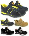 LADIES SAFETY TRAINER LIGHTWEIGHT STEEL TOE CAP LEATHER WORK OFFICE SHOES BOOTS