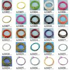 "x100m18 10pc Multi-color 18"" Loop Cable Stainless Steel Chain Cord Necklace Wire"