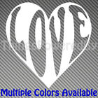 Custom Heart Vinyl Sticker, Heart with LOVE, Multiple Colors, Heart104