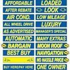 15 Inch Blue & Yellow Sign Stickers (multiple item shipping discount)