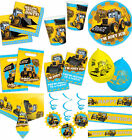 MY 1ST JCB YELLOW DIGGER JOEY BOYS BUILDER BIRTHDAY PARTY TABLEWARE DECORATIONS