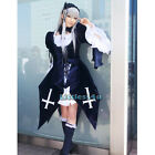 Black Gothic Lolita Fancy Dress Japanese Long Sleeve Outfit Costume Cosplay Maid
