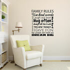 Family Rules Wall Sticker - Quote Wall Decal