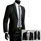 2piece-New Mens Dress slim-fit 2-Button style Best Black 38R jacket -with pants-