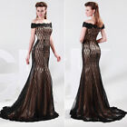 Vintage Mermaid Pageant Long Evening Party Prom Dress Gowns Wedding Dresses