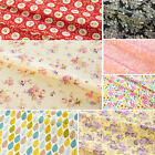 Floral Fabric 100% Cotton Rose Material Vintage Metre Chic Craft Quilting 44""