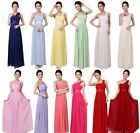 Hot Women's Party Evening Wedding Bridesmaid Prom Ball Long Chiffon Dress Formal