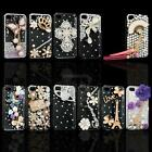 3D Crystal Diamond Bling Diamante Hard Case Cover Skin For iPhone 4 4S 5 5S 5C
