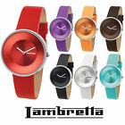GENUINE Lambretta Quartz WATCH Leather Strap 7 Colours Iconic Sixties 60's Retro