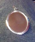 40mm x 30mm SILVER or GOLD PLATED PENDANT BLANK