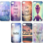 Thin Hard Cover Case For iPhone 4/4S/5/5S/5C Inspirational Quote For Life Lover