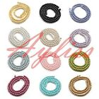 4mm,6mm,8mm,10mm,12mm Round Glass Pearl Spacer Charm Beads Jewelry Making DIY