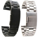 Stainless Steel Solid Links Watch Band Strap Bracelet Straight End 18 20 22 mm
