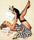 Vintage Retro Sexy Pin Up Girl Stockings Glamour Glossy Poster Print A4 A3 SPUS1