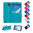 Leather Window View Screen Flip Stand Case Cover for Samsung Galaxy Note 3 N9000