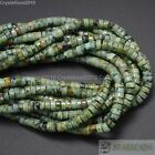 Natural African Turquoise Gemstone Heishi Loose Beads 2mm x 4mm 3mm x 6mm 16''