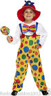 BOYS GIRLS KIDS CHILDRENS CIRCUS CLOWN COSTUME FANCY DRESS COMPLETE OUTFIT