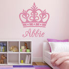 Personalised Name Crown Wall Sticker - Girl bedroom name sticker