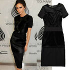 Luxury Lady Celeb Prom Eening Party Bodycon Dress Cocktail Party Black Fit Dress