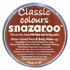 Snazaroo 18ml RUST BROWN FACE PAINT Fancy Dress Party Stage MakeUp
